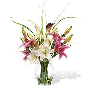 Petals – Calla & Rubrum Silk Flower Arrangement – Handcrafted – Amazingly Lifelike – 22 x 20 Inches