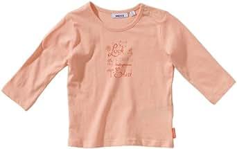 Mexx - Camiseta con cuello redondo de manga larga para niña, talla L / 68 - talla alemana, color rosa 688