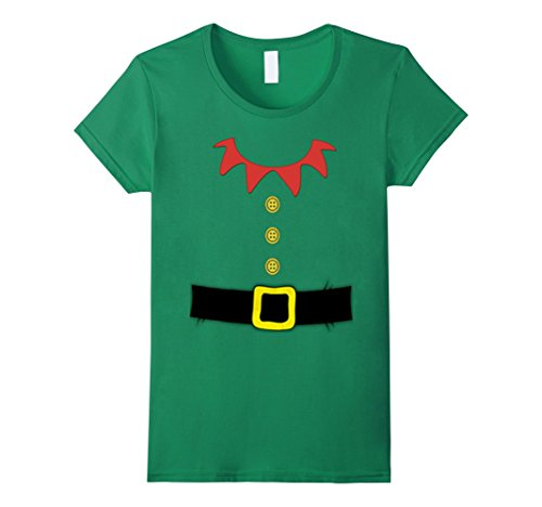 Christmas Elf Costume Ideas (Women's Santa Elf Costume Holiday Christmas Shirt for Kids & Adults Medium Kelly Green)