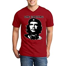 Shop4Ever Che Guevara Men's V-Neck T-Shirt Political Shirts