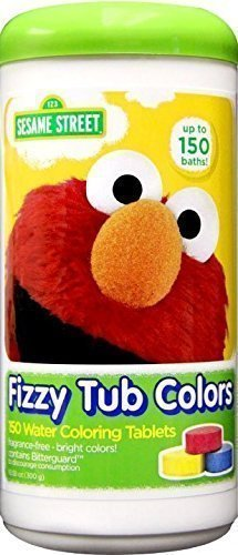 Fizzy Tabs - Sesame Street Fizzy Tub Color Tablets - 150 Baths - Value Pack!