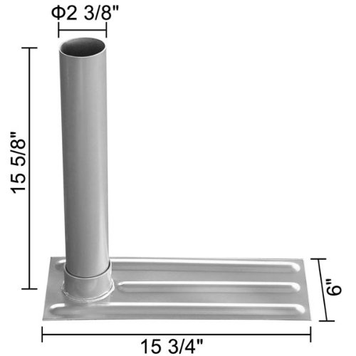 16x6 Inches Metal Steel Telescoping Tailgating Flagpole Vehicle Tire Stand w/ Cylinder Pole Holder for Home Outdoor Travel Party Mount Flag Car Truck Van RV Wheel