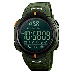 WWGZ Smart Sports Electronic Watch,Running Timing Alarm Clock Luminous Waterproof Multifunction Adult Watch,Outdoor-ArmyGreen