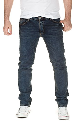 Yazubi Herren Jeans Darren Slim Fit , blue denim (3204), W33/L32