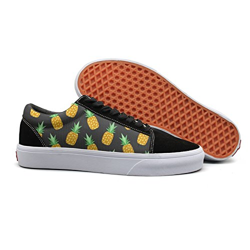 Fashio Canvas Shoes For Women Yellow Pineapple Lover Skateboard ()