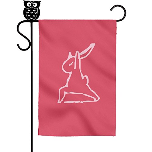 Kaiui Aidof Decorative Garden Flags rabbit yoga pose Party House Flags 12 x 18 Inch -