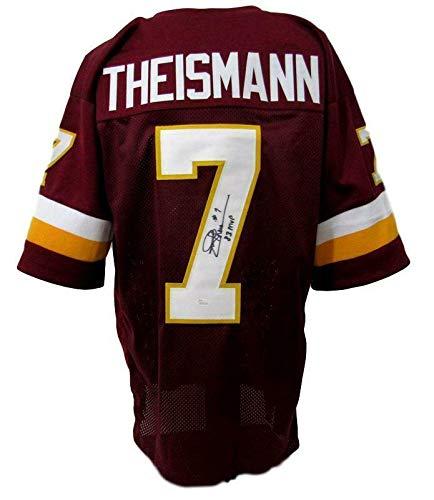 Signed Joe Theismann Jersey - Theisman Inscribed Maroon Size XL 142145 - JSA Certified - Autographed NFL Jerseys (Theismann Jersey)