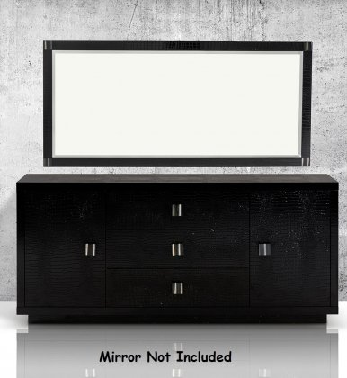 A&X Bellagio - Modern Black Crocodile Lacquer Buffet by VIG Furniture