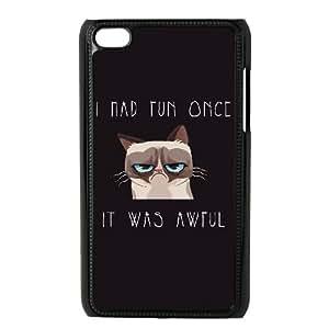 Custom iPod Touch 4 Case, Zyoux DIY Unique iPod Touch 4 Phone Case - Grumpy Cat