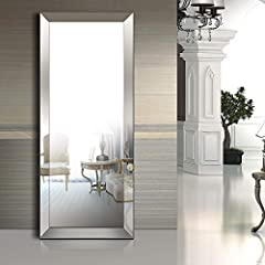 """Full Length Floor Mirror Bevel Mirror for Living Room/Bedroom/Bathroom(70"""" x 30"""").Its versatile size makes it easy to place in a traditional-style bedroom, hallway or living room.This floor mirror can be hung vertically or horizontally accord..."""