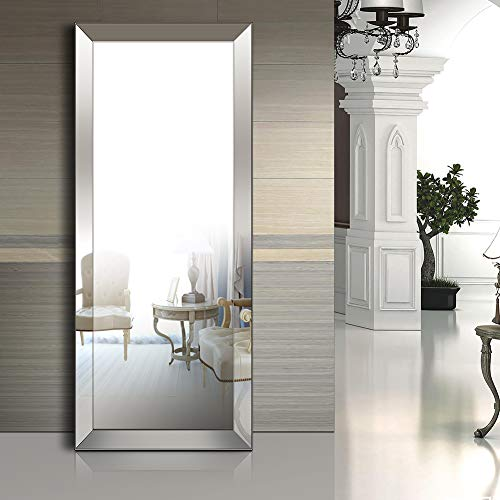 Baililai Full Length Floor Mirror Bevel Mirror for Living Room/Bedroom/Bathroom(70