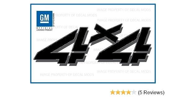 set of 2-2014 4x4 Decals FBLK stickers GMC Sierra Black Blackout Bed Side