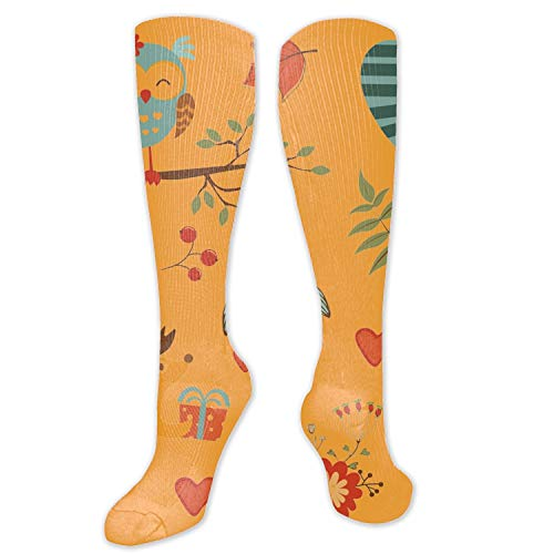 (3D Abstract Artistic Digital Art Drawing Cute Forest Animals Colorful Collection Vector Unisex Sport Elite Socks)
