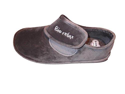 Zapatilla de Estar por casa/Biorelax/Hombre/Cierre Fácil: Amazon.es: Zapatos y complementos
