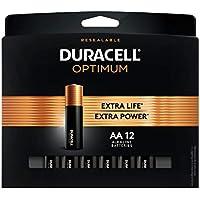 12-Count Duracell Optimum 1.5V Alkaline AA Batteries