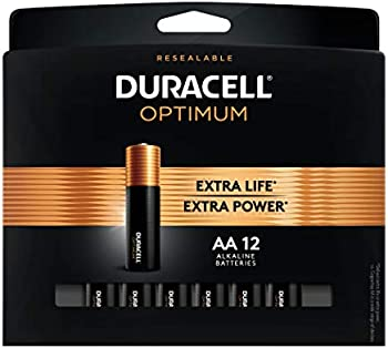 12-Count Duracell Optimum 1.5V Alkaline AA Batteries
