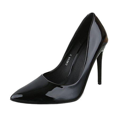 Ital-Design - Zapatos de vestir de Material Sintético para mujer negro (schwarz 1)