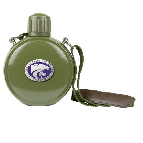 Kansas State Wildcats Colored Logo Canteen with Compass ()