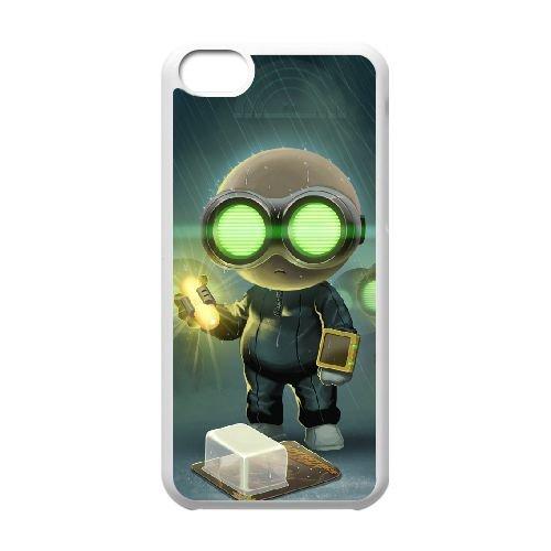 Stealth Inc. 2 A Game Of Clones 3 coque iPhone 5c cellulaire cas coque de téléphone cas blanche couverture de téléphone portable EEECBCAAN01274