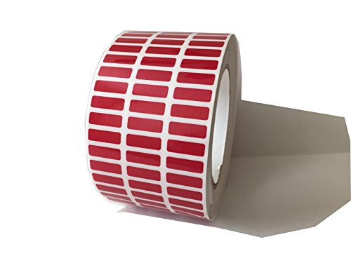 500 Red TamperColor Tamper Evident Red Security Label Seal Sticker, Rectangle 0.75
