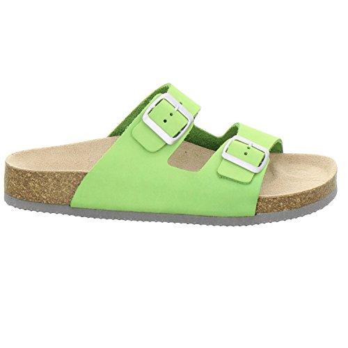 AFS-Schuhe 210006 - Zuecos de Piel para mujer Verde - Apfel ...