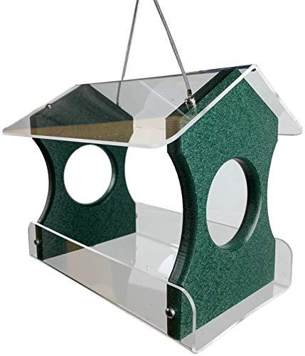 JC's Wildlife Green Recycled Poly Lumber Hanging Bird Feeder (Green) (Recycled Lumber)