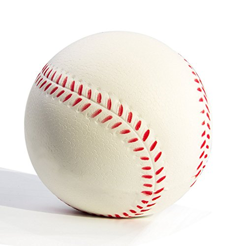 WATINC 1 Pcs Jumbo squishy Sweet Scented Vent Charms Slow Rising Baseball squishies Kid Toy , Lovely Stress Relief Toy, Decorations Gift Fun ()