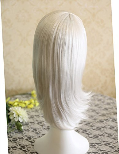 Amazon.com : 55cm Medium nabari no ou shijima kurookano Silvery White Anime Cosplay Wig, Costume Anime Wigs for Party UF049 : Beauty