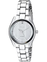 Women's 'Zoey' Quartz Stainless Steel and Alloy Casual Watch, Color:Silver-Toned (Model: ZR34417)