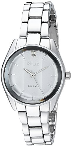 (Relic Women's Zoey Quartz Stainless Steel and Alloy Diamond Accent Watch, Color: Silver-Tone (Model:)