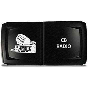 Green LED CH4x4 Rocker Switch CB Radio Symbol