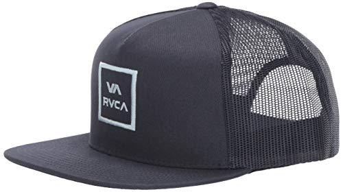 RVCA Men's VA All The Way MESH Back Trucker HAT, Navy Blue, ONE Size