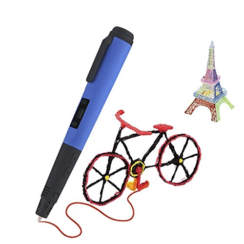 Generic Intelligent Stereoscopic 3D Printing Pen for Art Craft Hobbyists - Blue by Generic