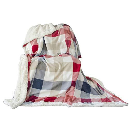 Uozzi Bedding Sherpa Fleece Blanket Warm Soft Luxurious Twin