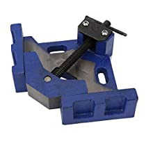"""POWERTEC 71544 Quick Screw Guide Rail Clamp for MFT Table and Guide Rail System 4 Pack 5-3//8/"""" Capacity x 2-3//8/"""" Throat Depth"""