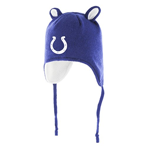 ts Children Unisex NFL Scalywag Ots Knit Cap with Ears, Toddler, Royal ()