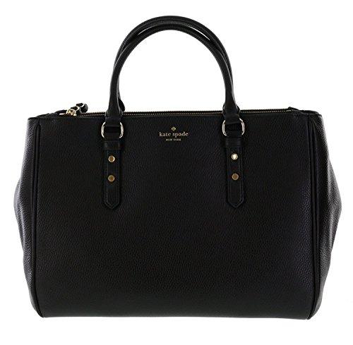 Kate Spade New York Mulberry Street Leighann Satchel Handbag Shoulder Bag (Black)