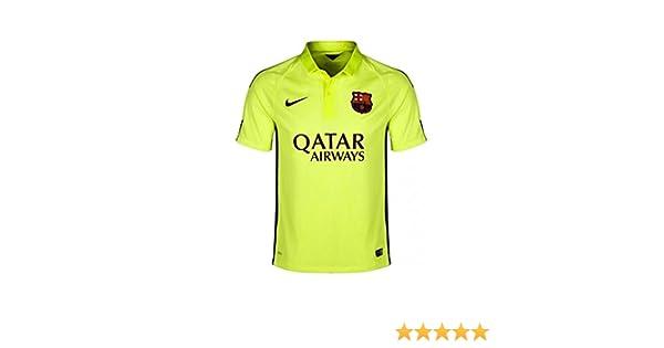 Nike Fútbol Club Barcelona (FCB) 3ª equipación 2014/2015 - Camiseta de fútbol para hombre, color amarillo, talla L: Amazon.es: Deportes y aire libre