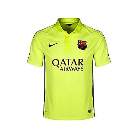 Nike Fútbol Club Barcelona (FCB) 3ª equipación 2014/2015 - Camiseta de fútbol para hombre, color amarillo, talla XL: Amazon.es: Deportes y aire libre