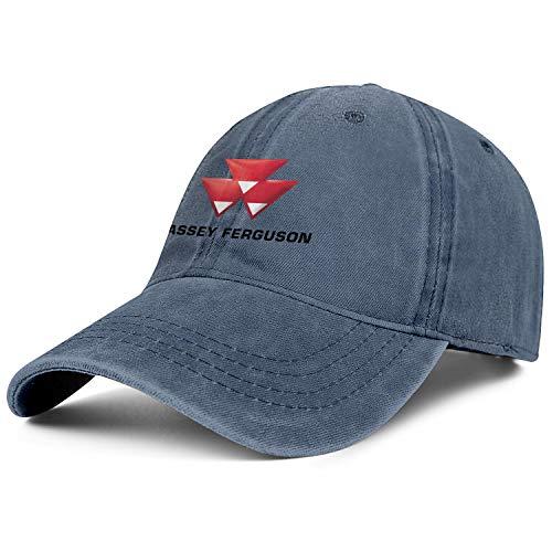 BSUTU Men's Womens Cowboy Hat Massey-Ferguson-Farm-Tractor- Washed Cotton Adjusted Sport Baseball Cap (Massey Ferguson 7 Lawn Tractor For Sale)