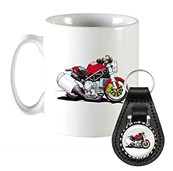 K1874 Mk Koolart Gifts Cartoon Ducati Monster Motorcycle Coffee Mug