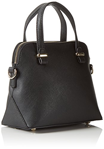 Tommy HilfigerTH TWIST MINI SATCHEL SOLID - Borsa con Maniglia Donna Nero (Schwarz (Black 002))