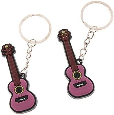 2 Unidades Small Llavero de Instrumentos Musicales ...
