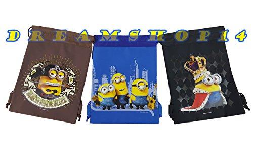 Minions Disney (Disney's Minions 3ct. Drawstring Bags - Large Drawstring Bags)