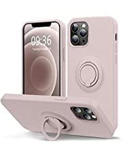 MOCCA for iPhone 12 Case, iPhone 12 Pro Case 6.1inch with Ring Kickstand | Magnetic car Mount Supported | Anti-Scratch Full-Body Shockproof Protective Case for iPhone 12/12 Pro - Pink Sand