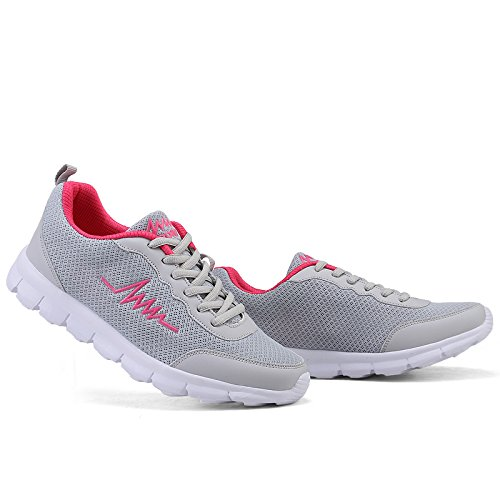 JieLuka Summer Womens Thick Bottom Breathable Mesh Leisure Shoes Lightweight Breathable Outdoor Running Shoes Hiking Shoes