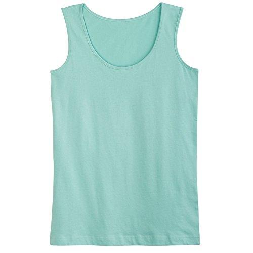 T-shirt Ringspun Sleeveless (CATALOG CLASSICS Women's Ringspun Cotton Tank Top - Scoop Neck Sleeveless T-Shirt - Mint - 2X)