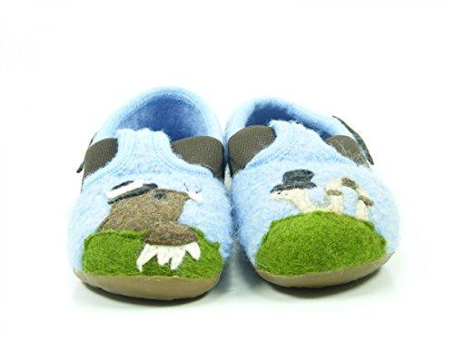 Haflinger herr M. Everest-Slipper, Zapatillas Altas Unisex Niños Blau