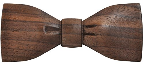Slim Timber Men's Wood Bow Tie (Walnut) (Walnut Wood Dress)