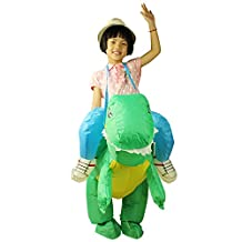 Children T-REX Dinosaur Inflatable Costume Cosplay Dress Kids Toys Blow up Costume